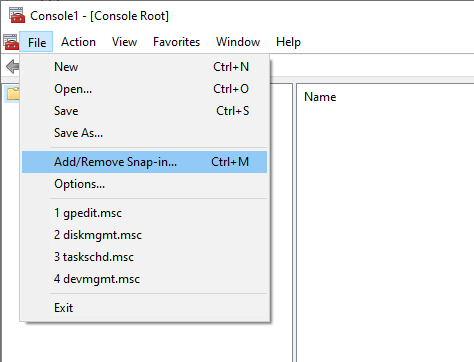 Non-administrator-group-policy-windows-select-add-remove-snap-in