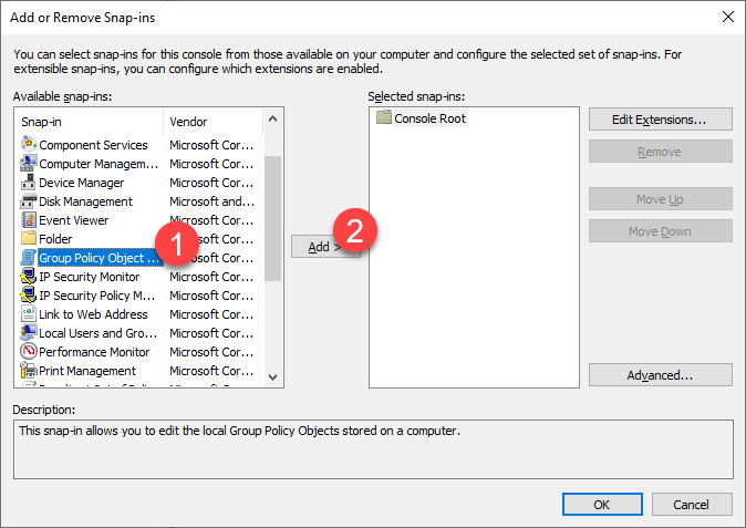 Non-administrator-group-policy-windows-select-group-policy-object-option