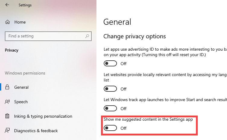 Remove-tips-and-videos-from-settings-app-windows-10-toggle-switch