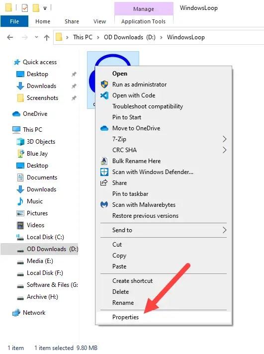 Restore-trustedinstaller-windows-select-properties