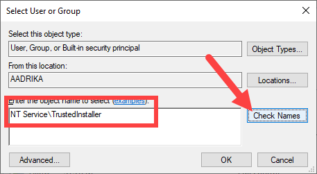 Restore-trustedinstaller-windows-type-trustedinstaller