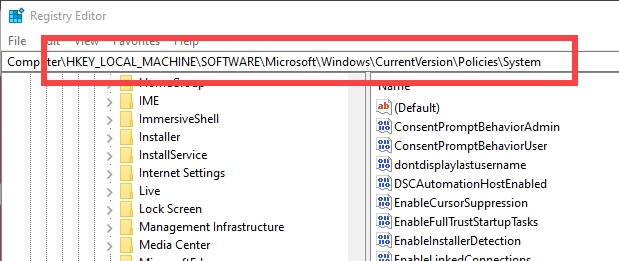 Disable-fast-user-switching-windows-10-go-to-folder-in-registry
