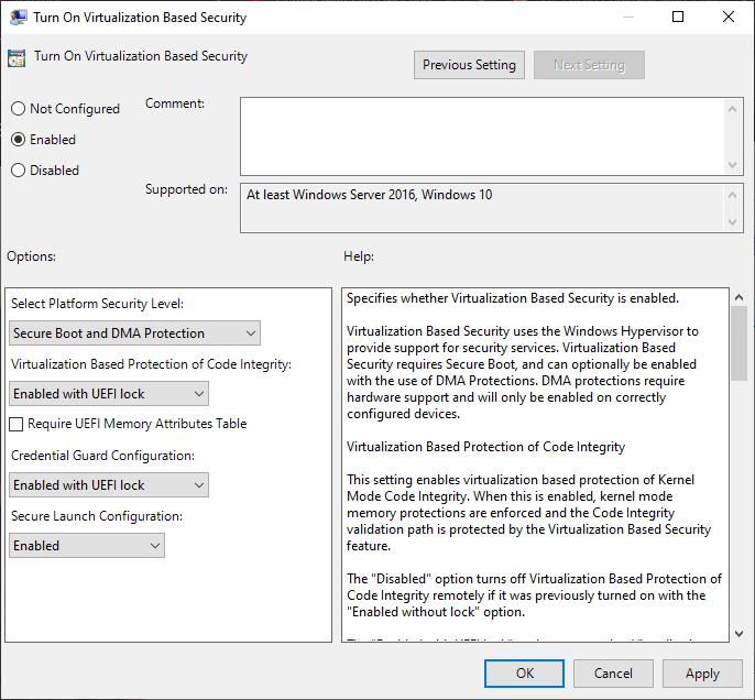 Windows-device-security-enable-policy