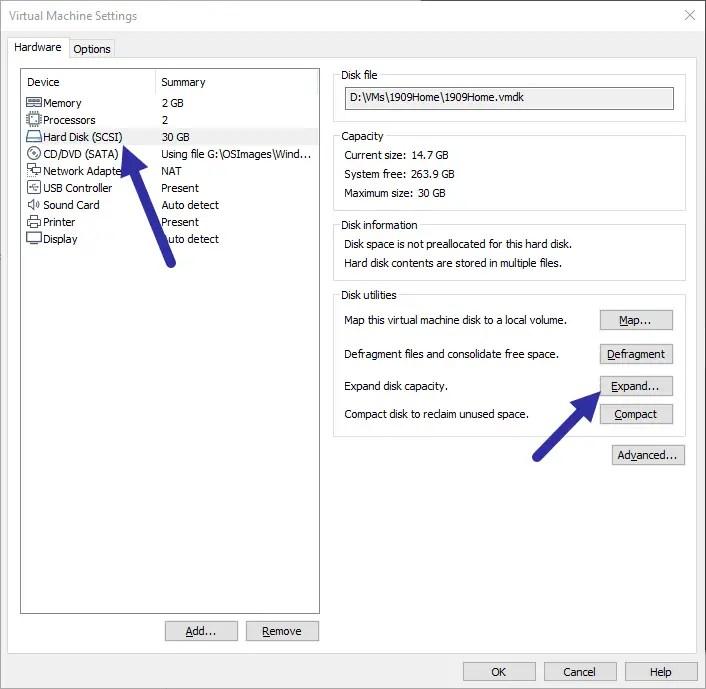 Vmware-expand-hard-disk-select-hard-disk