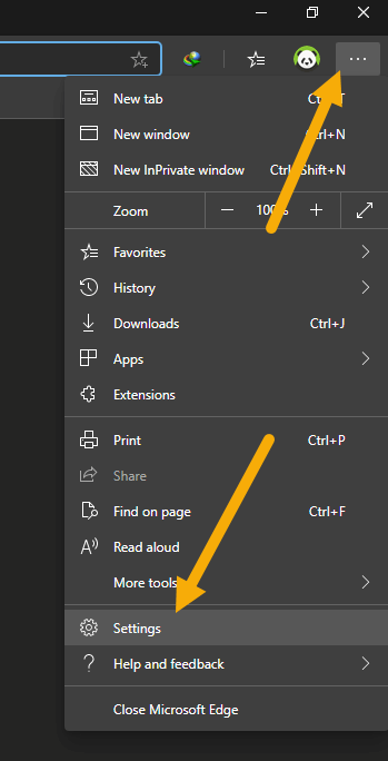 Edge-chromium-extensions-sync-feature-settings