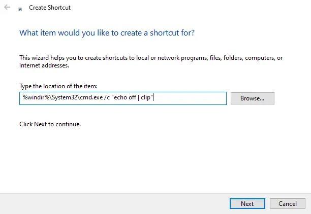 Clear-clipboard-shortcut-command