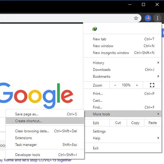 Pin-websites-to-taskbar-chrome-create-shortcut