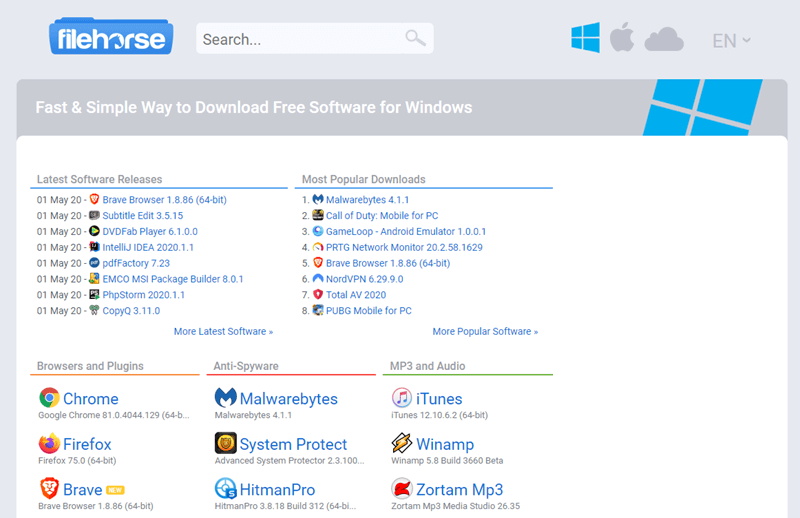 Best-safe-sites-to-download-windows-software-filehorse