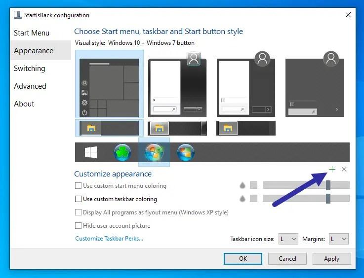 Change-start-button-icon-windows-10-add