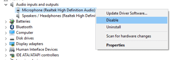 Disable-windows-10-microphone-device-manager-disable-option