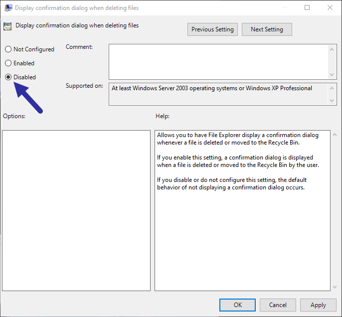 Disable-delete-conformation-dialog-box-select-disabled