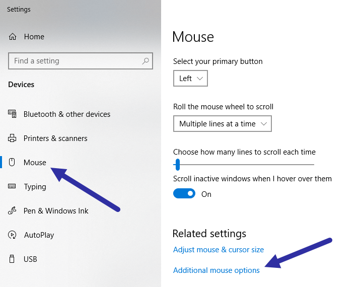 Mouse pointer ripple effect - additional mouse options