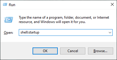 User specific startup folder location