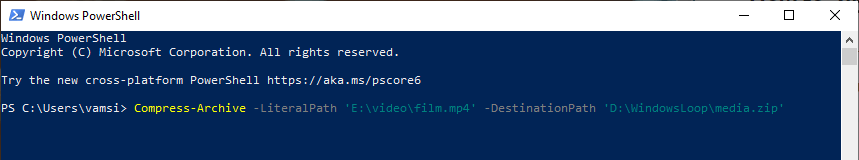 Powershell-command-to-compress-zip-file-070820