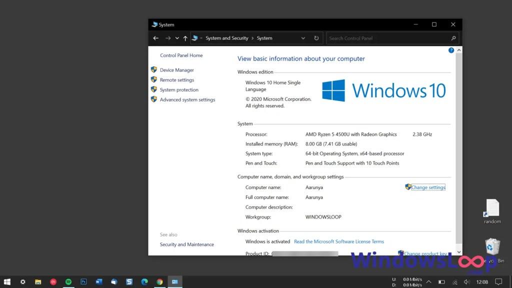 System information windows 10 ryzen 5 laptop