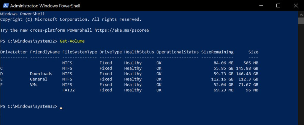 Get-partitions-list-powershell-050121