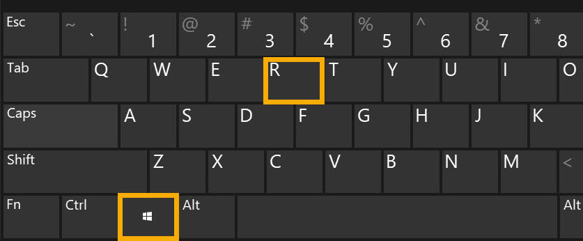 run dialog box keyboard shortcut