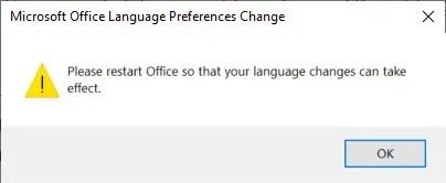confirm language change action