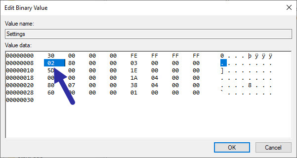 use registry to hide taskbar in windows
