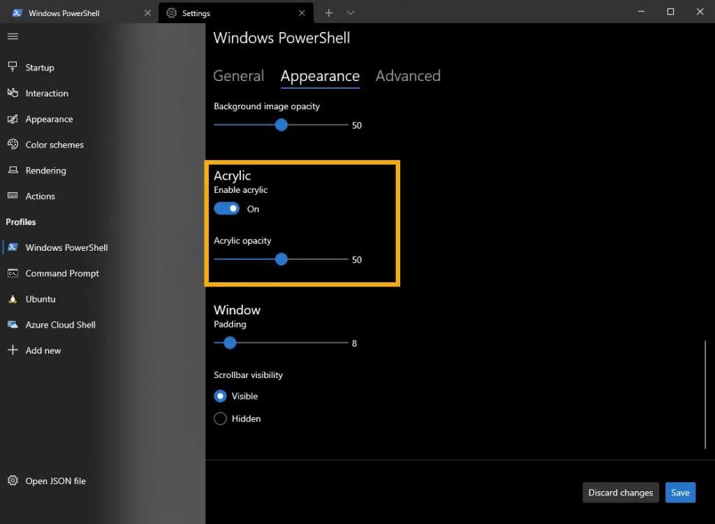 Windows Terminal background image customization 2