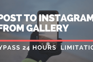 Post To Instagram From Gallery