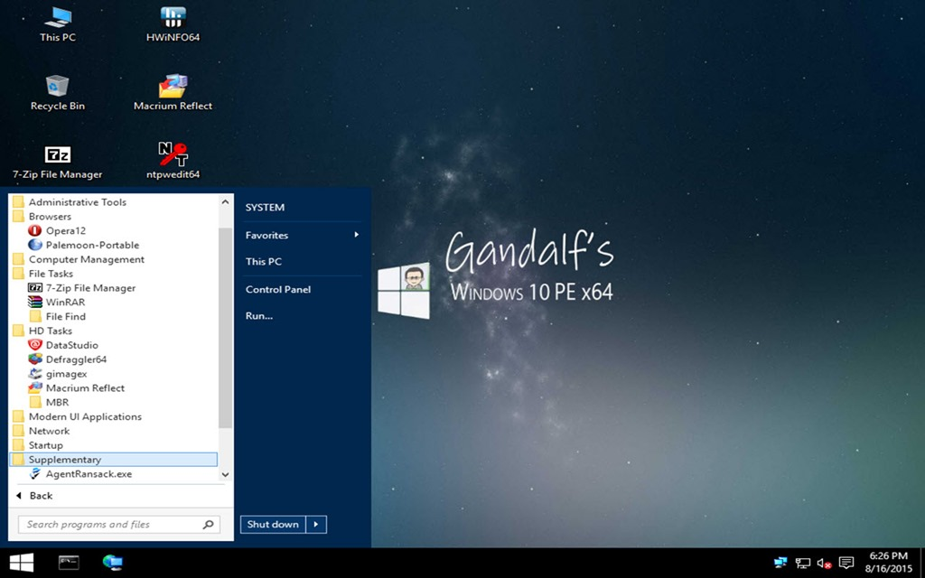 Windows 10 x64 PE with all x64 apps | Musings of an IT Pro