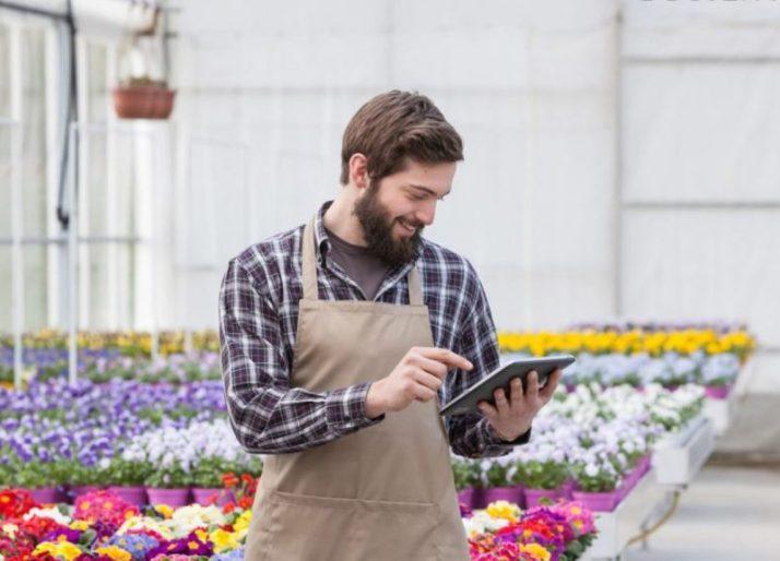 profesi penjual bunga yang menyenangkan