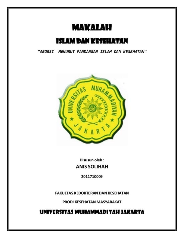 Contoh Cover Makalah Mahasiswa