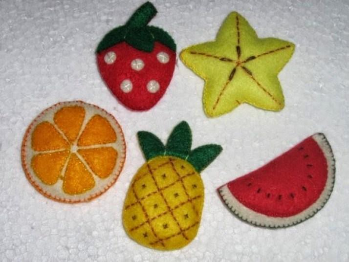 Buah-buahan dari Kain Flanel
