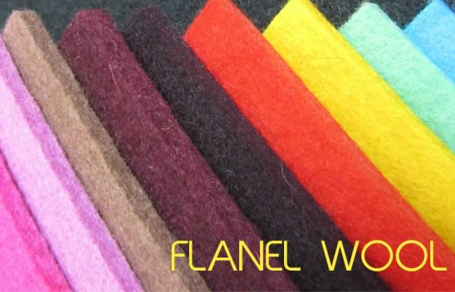 jenis kain flanel wool