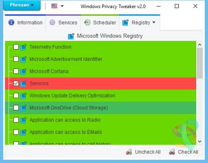 Windows privacy Tweaker