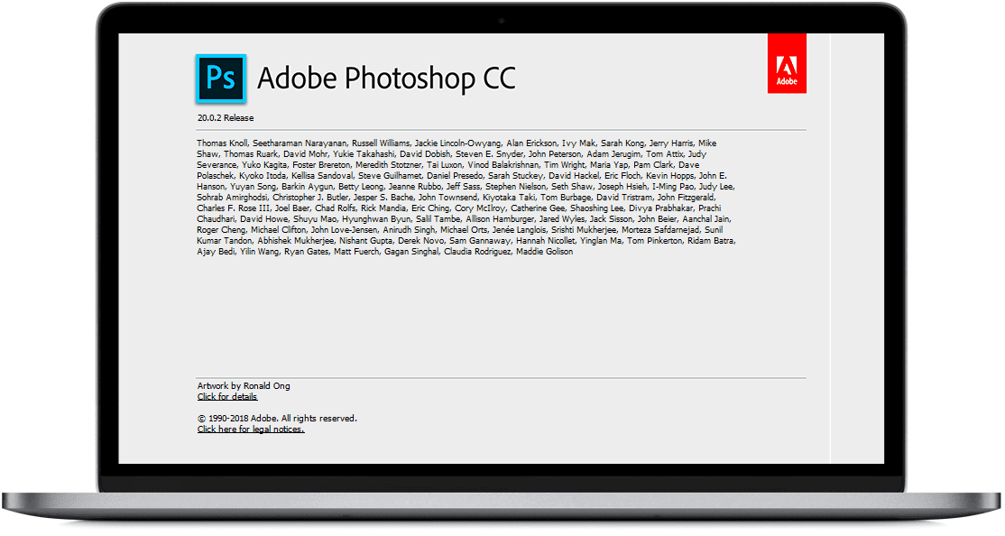 About Photoshop CC 2019 - Windowstan