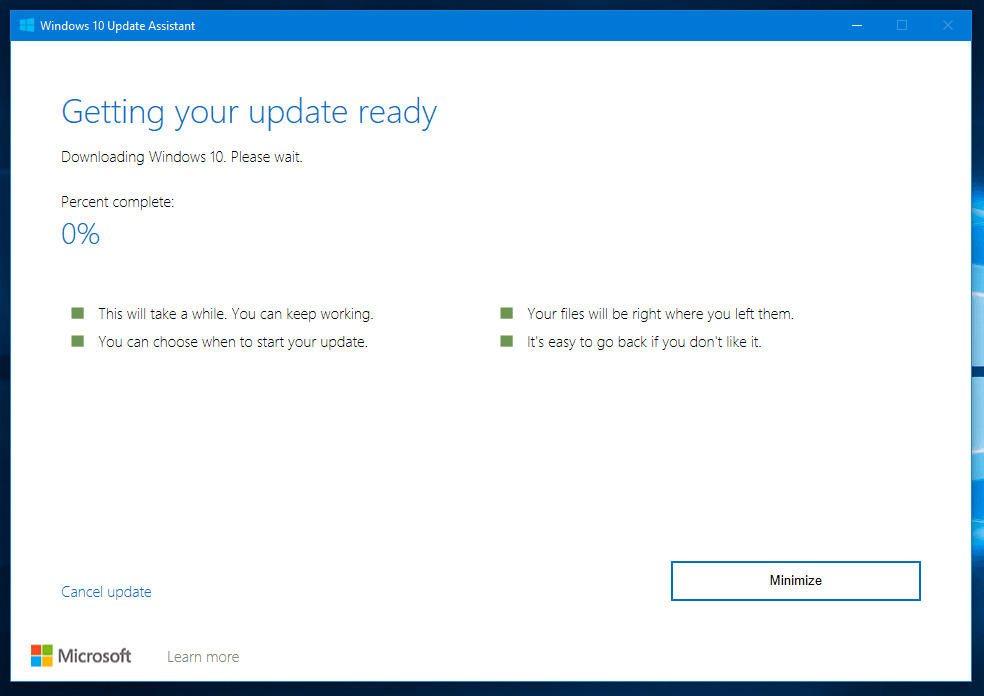 Windows 10 Updates available