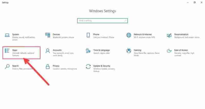 2-open apps in settings