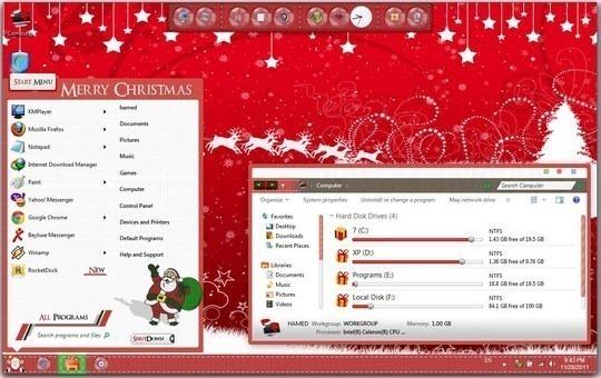 Christmas-Windows-7-Skin-Pack