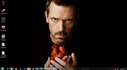 House MD Windows 7 Theme Sounds Icons Ubuntu Cursors