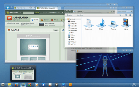 Download Free Soft7 1.8 Windows 7 Theme 3rd Party