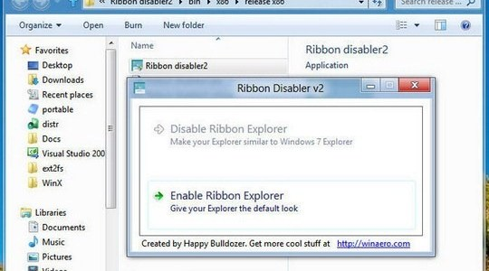Ribbon Disabler for Windows 8