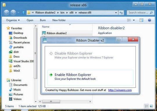 Download Free Ribbon Disabler for Windows 8