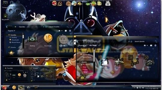 Angry Birds StarWars Windows 7 Skin Pack