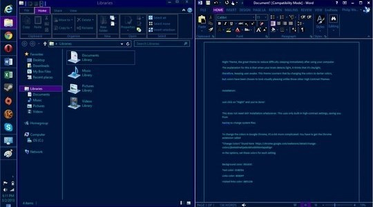 Night Windows 8 Theme
