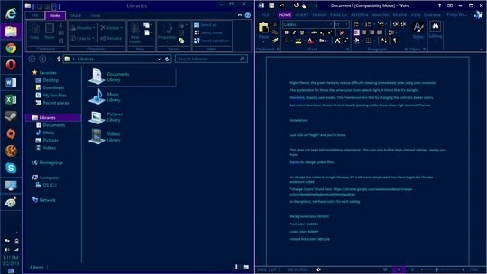 Download Free Night Windows 8 Visual Style