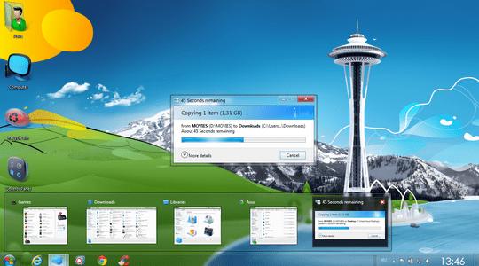 Aero Silver W8 Windows 7 Visual Style