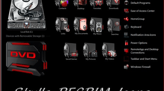 Skulls REGRIM Windows Icon Pack