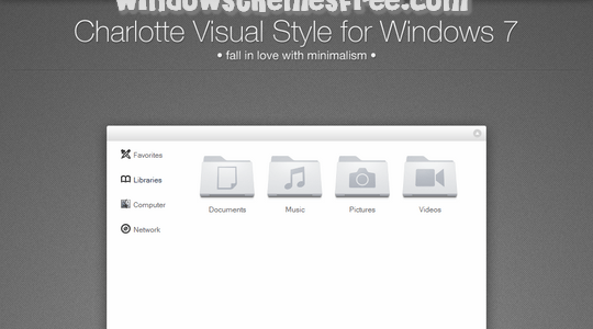 Charlotte Beta Windows 7 Visual Style