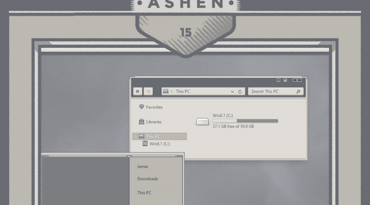 Ashen Windows 8.1 Visual Style