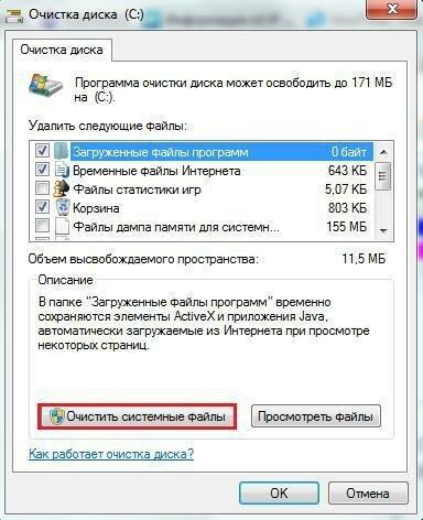 Cancella file di sistema