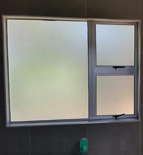 WINDOW FROSTING BATHROOM