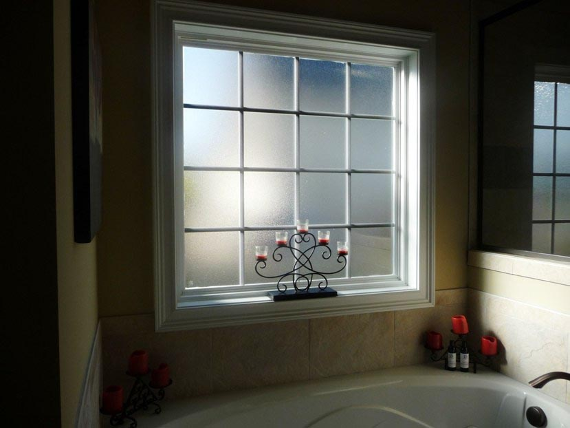 bathroom frosted window film | window treatments design ideas