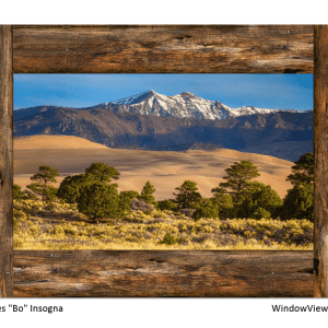 Sand dunes window view art